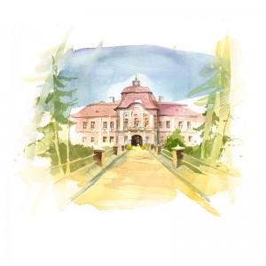 Carte poștală Csillag István - Castelul Teleki din Gornești