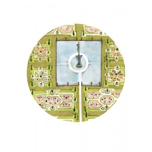 Keszeg Ágnes - Grădini de castele #3 - print A3