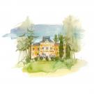 Carte poștală Csillag István - Castelul Szentkereszty din Arcuș