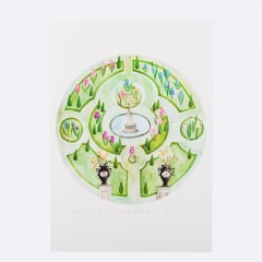 Keszeg Ágnes - Grădini de castele #1 - print A3