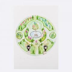 Keszeg Ágnes -  Grădini de castele #1 - print A5