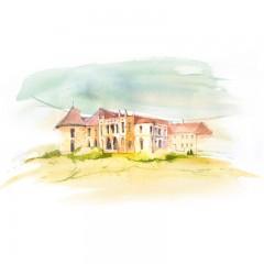 Carte poștală Csillag István - Castelul Bánffy din Bonțida