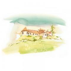 Carte poștală Csillag István - Castelul Daniel din Vârghiș