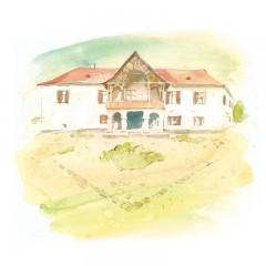 Carte poștală Csillag István - Castelul Daniel din Tălișoara